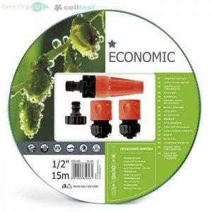 """Trọn bộ ống tưới,vòi tưới chất lượng cao Cellfast Economic 1/2""""dài 15m"""