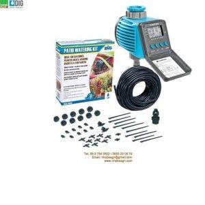 Combo hệ thống tưới nhỏ giọt tự động (bộ kit tưới nhỏ giọt DIG+hẹn giờ tưới Cellfast) C-03