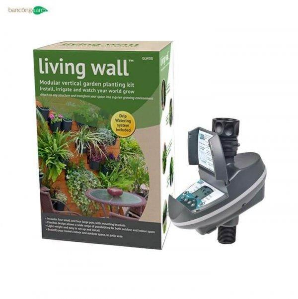 Combo vườn tường tự lắp ghép+đồng hồ hẹn giờ tưới tự động cao cấp DIG C-06