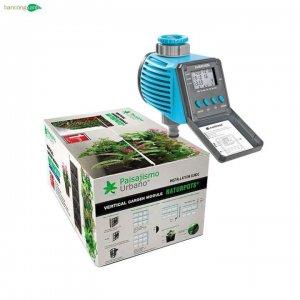 Combo vườn tường tự lắp ghép Naturpots+đồng hồ hẹn giờ tưới tự động Cellfast C-07