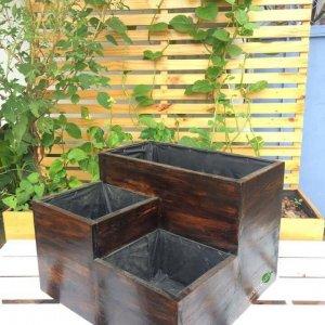 Hộp gỗ trồng cây dạng khối GG019