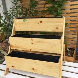 Kệ gỗ làm vườn 3 tầng-chân nghiêng GG702074