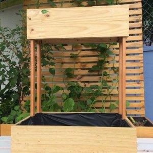 Kệ gỗ trồng rau 2 tầng thẳng góc GG634019