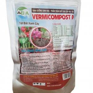 Phân trùn quế dạng viên Vermicompost P bón hoa lan, cây trồng trong chậu