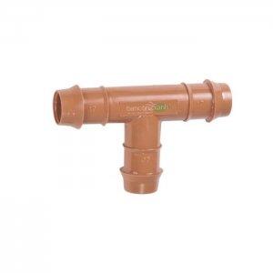 Tê nối ống PE DIG 17mm, màu nâu