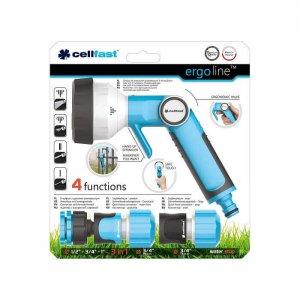 Bộ vòi tưới tay gạt 4 chế độ Cellfast Ergo 27mm