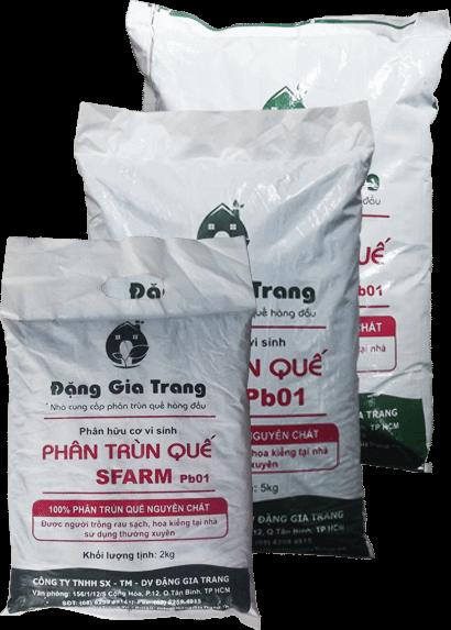 Phân trùn quế SFARM Pb01 (2kg)-phân bón vi sinh cao cấp cho rau sạch