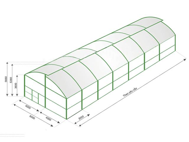 Mô hình nhà kính trồng rau