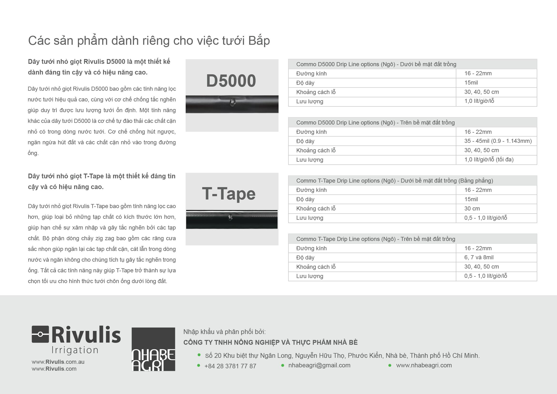 T-tape và D5000